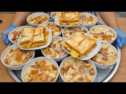 오픈 한달! 매일 1000그릇 팔리는 대구 명물 콩국수와 옛날 토스트 Amazing Warm Bean Soup and Egg Toast / Korean street food