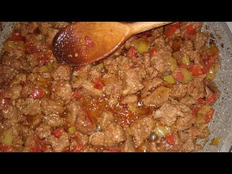 Нежнее мяса вы не ели! Тушим мясо по-турецки|Кавурма по-турецки| Domatesli biberli et kavurma