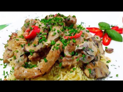 """Немецкое блюдо -"""" Гешнетцельтес"""" с соевым мясом ."""