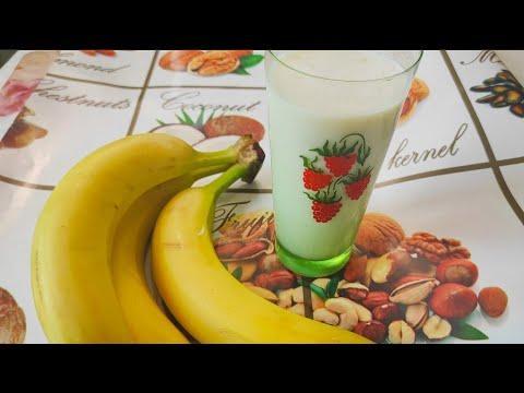Молочный коктейль с бананом как в детстве    Простой рецепт