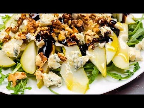 Салат с грушей, горгонзолой и грецким орехом. Вкусный и простой рецепт! Вот это Кухня!