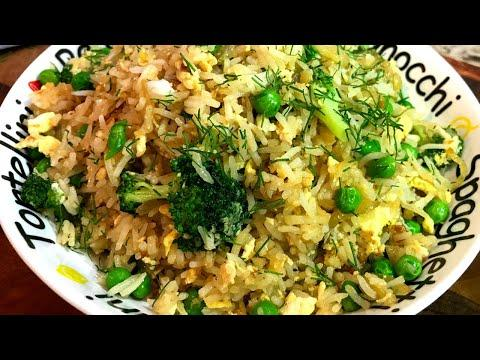 Жареный рис по китайски. Беру рис, яйцо и готовлю вкусный ужин за 15 минут. Рис с яйцом рецепт.