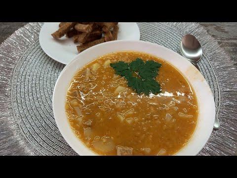 Очень вкусный и полезный чечевичный суп   быстрый домашний рецепт