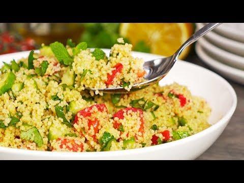 КУСКУС С ОВОЩАМИ за 12 минут! Идеальный салат или гарнир. Рецепт от Всегда Вкусно!