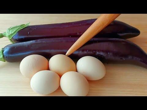 【小穎美食】茄子加雞蛋這樣做太好吃了,不炒不蒸不油炸,一周吃7次都不膩,真香