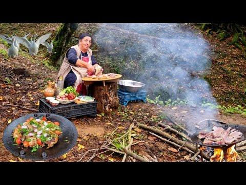In the village, my grandmother was frying fish