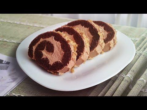 Рулет. Шоколадный рулет для диабетиков. ПП рулет без пшеничной муки и сахара