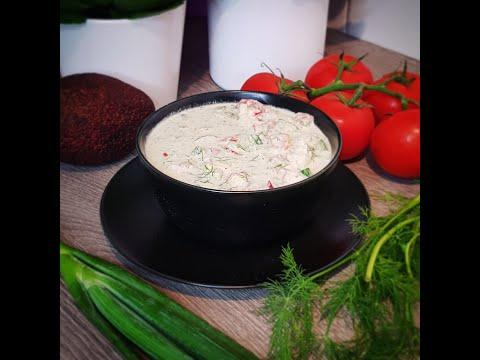 Бабушкина окрошка. Сыроедческие рецепты. Холодный суп, веган.