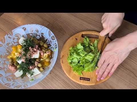 Простой рецепт моего любимого салата с тунцом пп! Очень вкусный- без майонеза