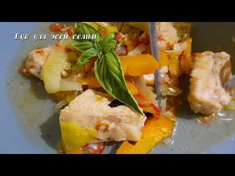 Нежнейшее мясо в сливочно-овощном соусе. Тушу свинину только по этому рецепту. Вкусное блюдо