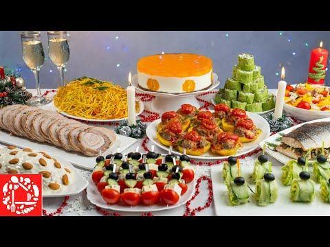 Меню на Новый год 2021! Готовлю 10 блюд на ПРАЗДНИЧНЫЙ СТОЛ: торт, салаты, закуски, мясо