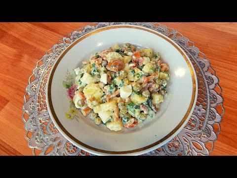 Картофельный салат с яйцом и маринованными грибами. Как приготовить простой салат из картофеля и яиц