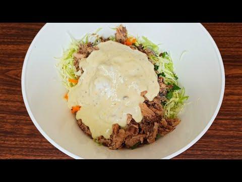 Рецепт вкусного салата. Никогда не устану его готовить❤ ПОЛЕЗНО, БЫСТРО И ВКУСНО. салат с капустой