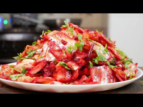 Если закончились закрутки на зиму, приготовьте этот салат. Капуста и свёкла, цыганка готовит.