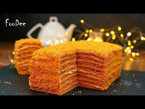 Торт «Карамелька» всего за 30 минут! Быстрый домашний торт без возни с коржами!
