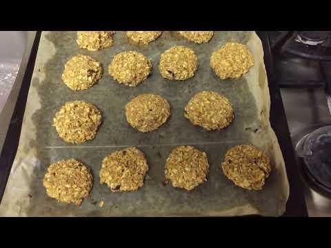 Овсяное печенье с яблоками. Всего 3 ингредиента! Без яиц, муки и жира!
