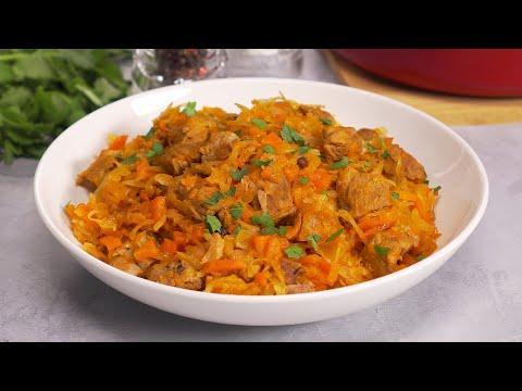 Всего 4 ингредиента для супер блюда! СВИНИНА С КВАШЕНОЙ КАПУСТОЙ в духовке. Рецепт от Всегда Вкусно!