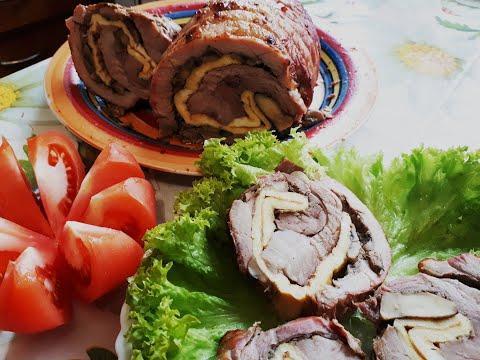 МЯСНОЙ РУЛЕТ на ПРАЗДНИЧНЫЙ стол с грибами. Как приготовить СУПЕР мясной рулет в духовке.Рецепт.