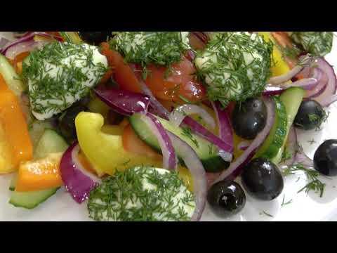 Салат Греческий с сырными шариками. Нереально вкусный салат. Авторский рецепт