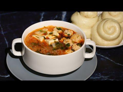 Суп с фрикадельками по - китайски / Ванзытан / Быстро и вкусно