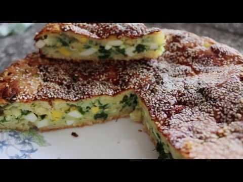 Вкусный Заливной пирог /Этот пирог приготовить проще простого/Пирог с луком и яйцом/ Yummy Pie