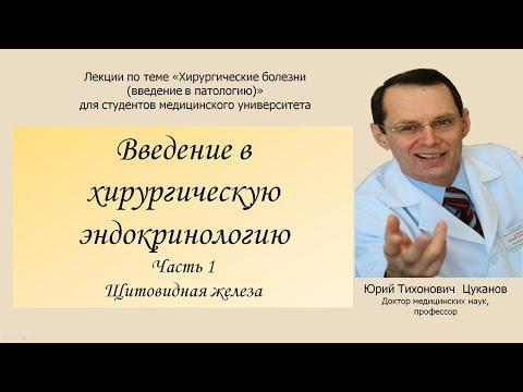 Хирургическая эндокринология, часть1. Щитовидная железа. Лекция для студентов медуниверситета.
