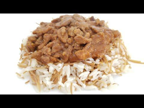 Рис по -турецки и мясо с подливой/Рассыпчатый рис/ Мясо с подливой/Turkish Rice and Meat with Gravy