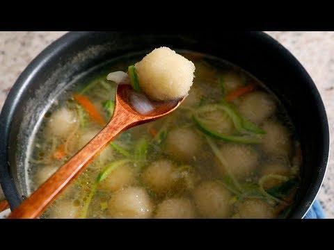 Potato Dumpling Soup (Gamja-ongsimi-guk: 감자옹심이국)