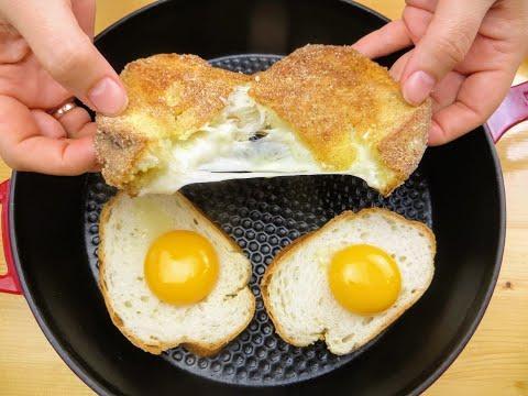 Батон и яйца, готовил так всегда и только сейчас узнал что блюдо французское!