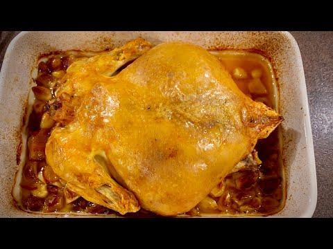 Курица на 40 зубчиках чеснока - мой вариант... нежнейшее сочное ароматное мясо с хрустящей корочкой