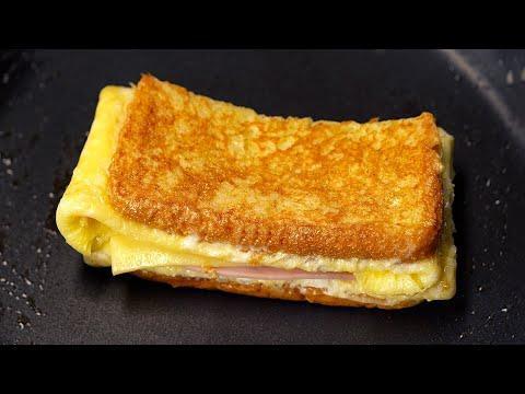 Супер быстрый Горячий ЯИЧНЫЙ БУТЕРБРОД на Завтрак или Быстрый Перекус! Рецепт от Всегда Вкусно!