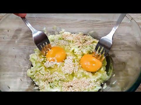 Кабачки, 2 яйца и ВКУСНЫЙ ужин готов  ПОЧЕМУ я раньше ТАК не готовила ?!