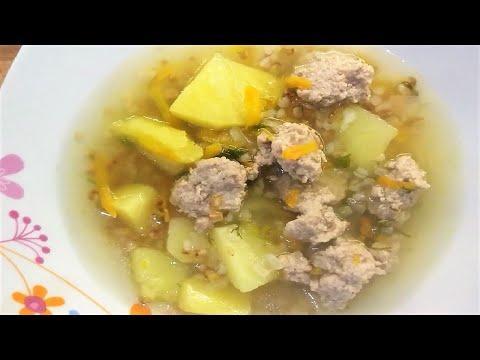 Суп с Фрикадельками и Гречкой. Супы Рецепты.