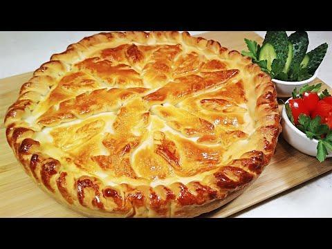 Как приготовить красивый КАРАВАЙ с начинкой. Рецепт шикарного пирога с луком и яйцом