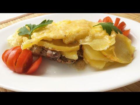 Мясо по - французски с картошкой. Мясо по - французски в духовке.  Любимый рецепт нашей семьи.