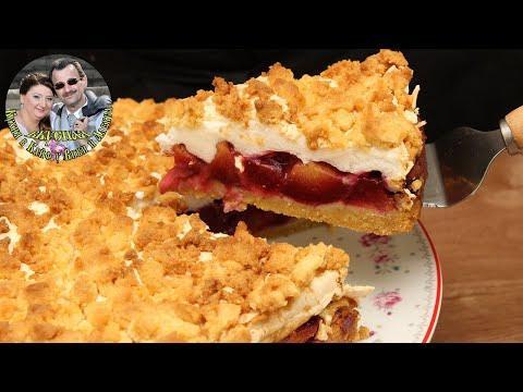 Десерт к чаю. Сливовый пирог. Летний, легкий, простой рецепт. Ну очень вкусно и быстро.
