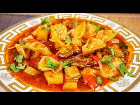 Чучвара по-цыгански. Первое и второе в одной тарелке. Gipsy cuisine.
