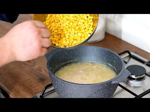 Куриный суп со свежемороженной кукурузой [легкий, вкусный рецепт]