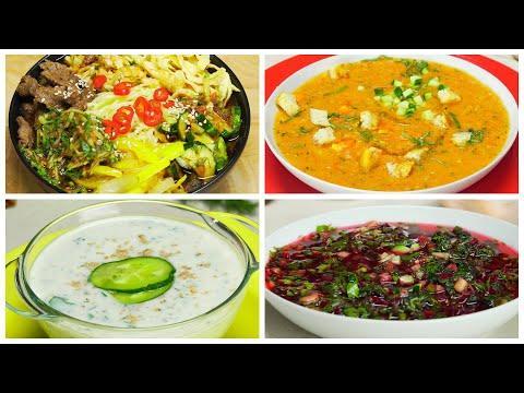 4 знаменитых холодных супа для долгожданного лета! Рецепты от Всегда Вкусно!