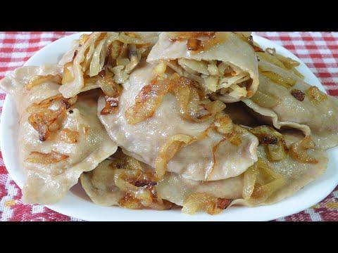 Эти вареники с капустой и грибами можно есть диабетикам 2 типа. Как сделать тесто из ц/з муки.