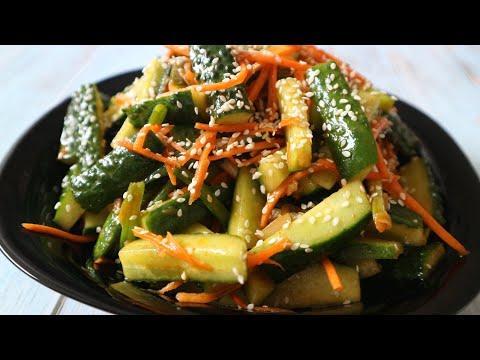 "Улетная ЗАКУСКА"" ОГУРЦЫ ПО КОРЕЙСКИ"" Cucumbers in Korean"