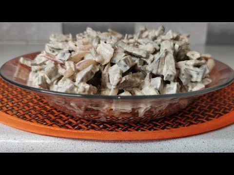 Простой рецепт вкусного салата с печенью. Готовим дома быстро и вкусно. Вкусный салат за 5 минут.