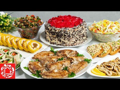 Праздничное МЕНЮ на День Рождения! Готовлю 8 блюд: Торт, Салаты, Закуски и Горячее
