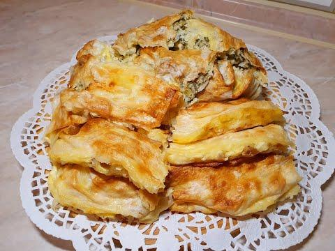 Блюдо из лаваша с двумя видами начинок в духовке.