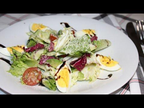 Салат с авокадо. Очень легкий и полезный. Рецепты с авокадо.