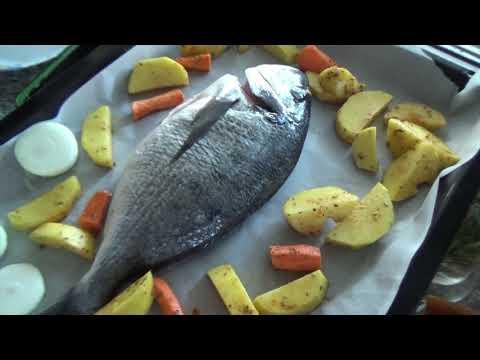 ГОТОВИТ МУЖ /Рыбка от турецкого мужчины/Простой рецепт рыбы и салата