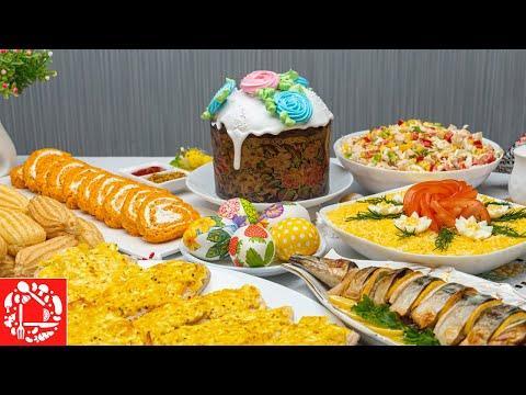 Пасхальное МЕНЮ 2020. Готовлю 8 блюд на ПРАЗДНИЧНЫЙ СТОЛ: Яйца, Салаты, Закуски, Рыба
