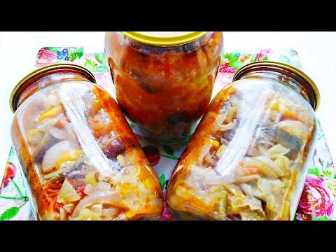 Салат на зиму из баклажанов, сладких перцев и помидоров! Вкусный салат и прост в приготовлении!