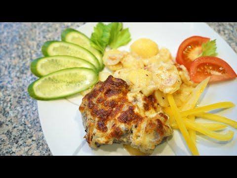 Рецепт - МЯСО ПО ФРАНЦУЗСКИ с картошкой. Очень вкусное блюдо.