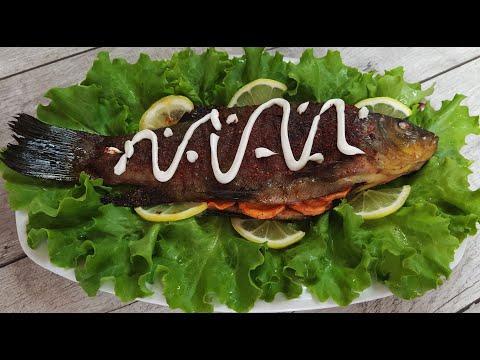 Как запечь рыбу в духовке. Линь в духовке. Вкусный рецепт